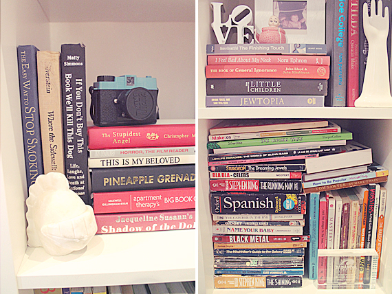 trying to style a bookcase with... books! - almost makes perfect