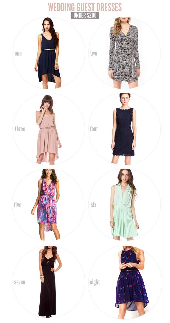 wedding guest dresses – under $200!