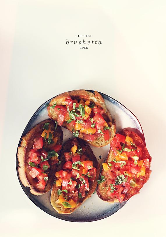 best brushetta ever - almost makes perfect