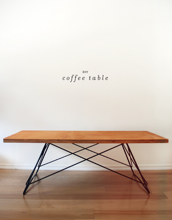 diy metal base coffee table
