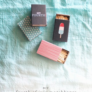 diy 4th of july matchboxes