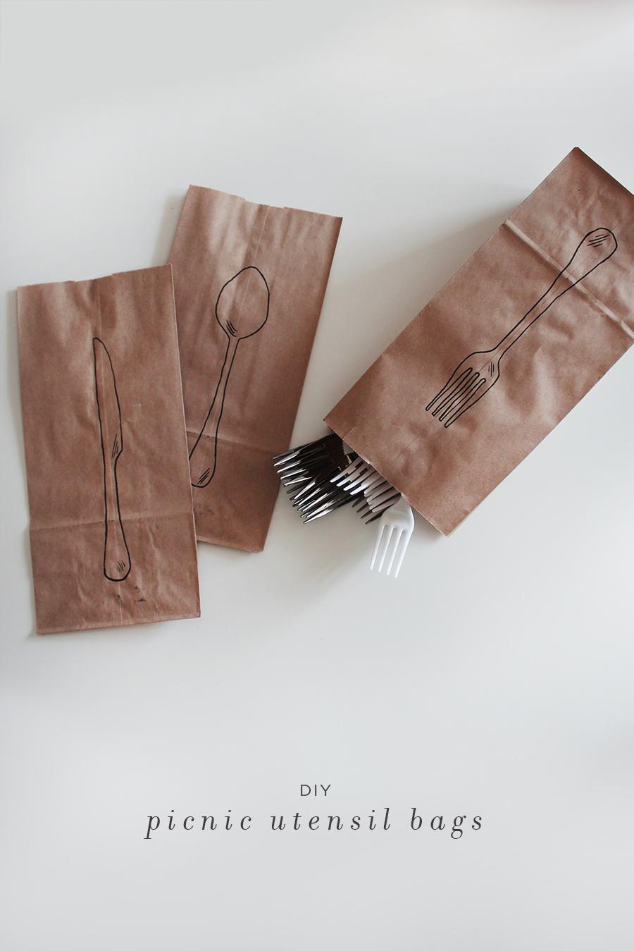 diy picnic utensil bags copy