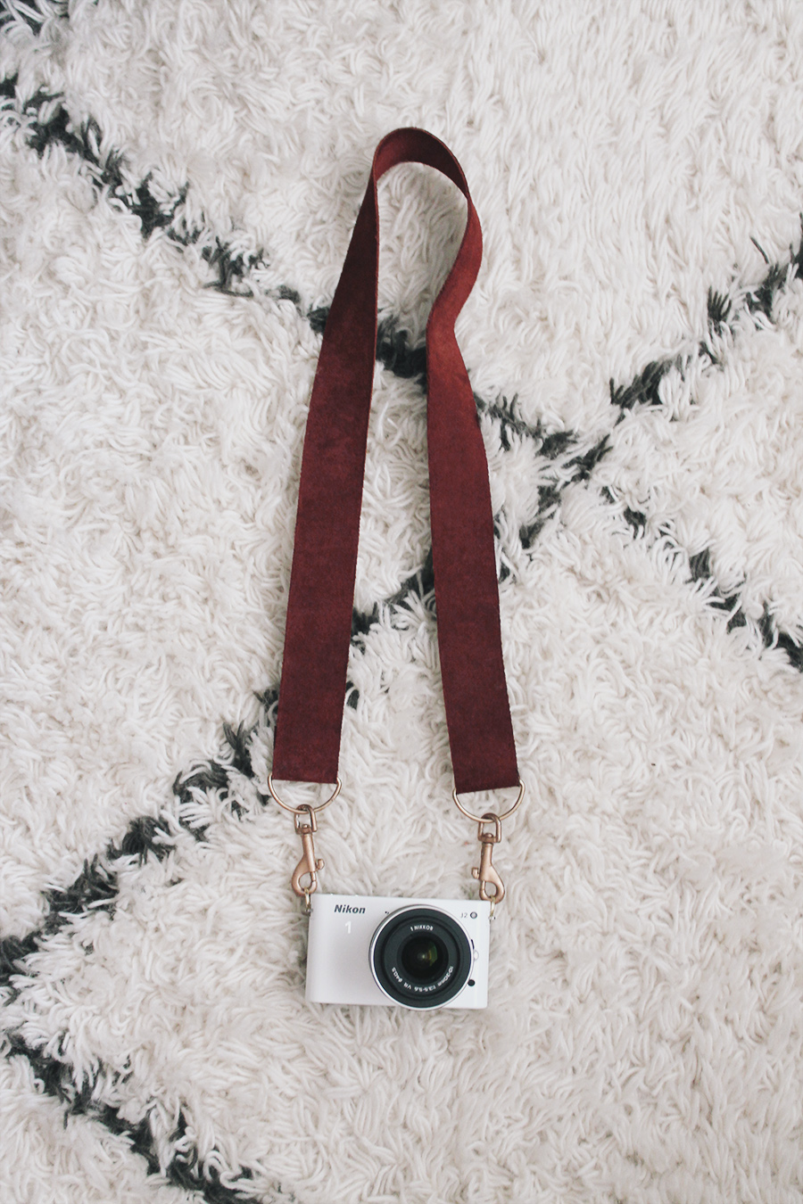 diy leather camera strap