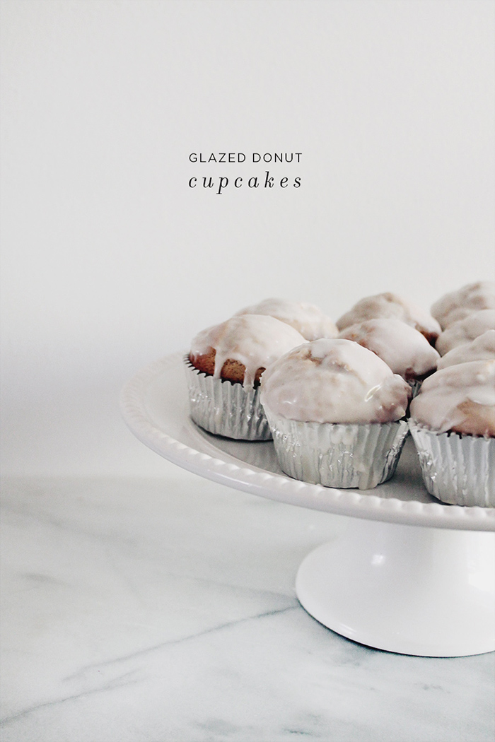 glazed donut cupcakes via almost makes perfect