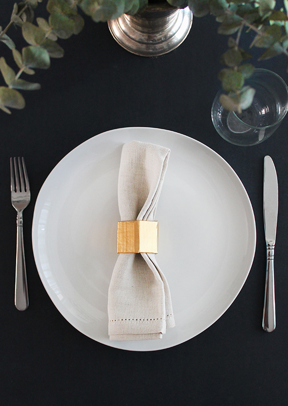 Diy Gold Geo Napkin Rings Almost Makes Perfect
