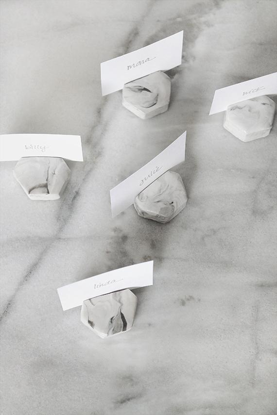 Wedding Place Card Ideas 98 Elegant marble place card holder
