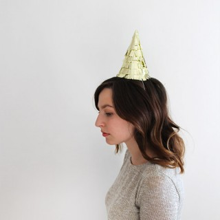 diy gold fringe hat