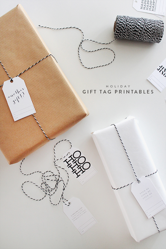 free printable holiday gift tags - almost makes perfect