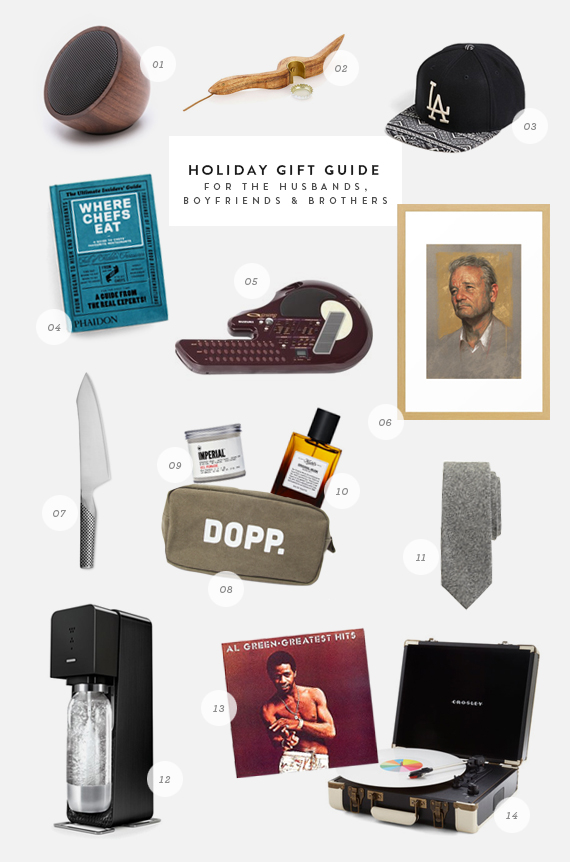 holiday gift guide for the boyfriends, husbands & brothers