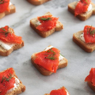 smoked salmon bites // almost makes perfect