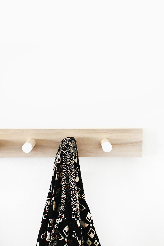 Diy Simple Wood Coat Rack Almost Makes Perfect Gorgeous Simple Coat Rack