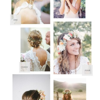 wedding floral crowns roundup // almost makes perfect