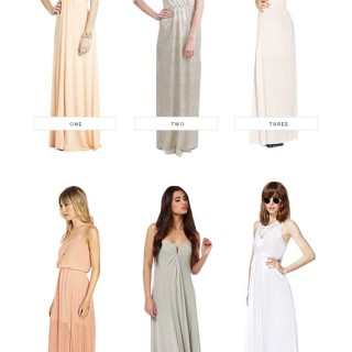 easy bridesmaids dresses under $100 | almost makes perfect
