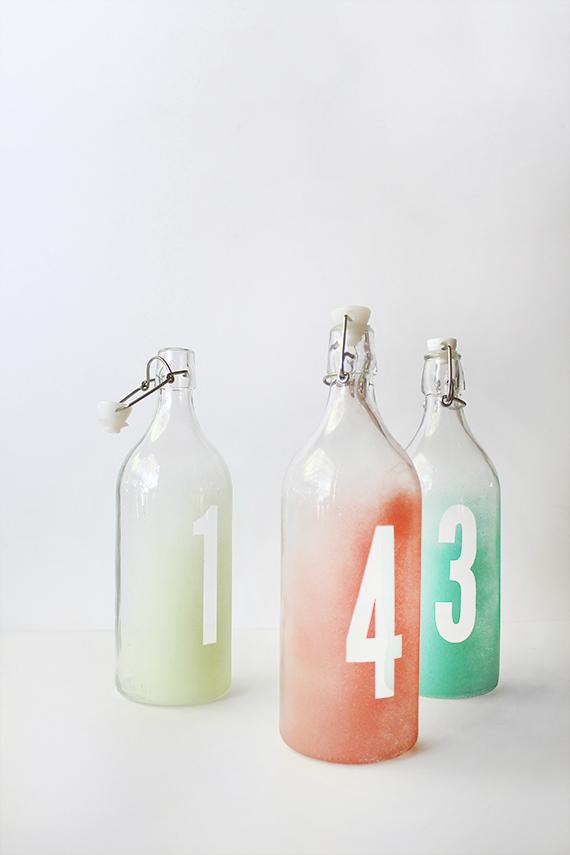 diy watercolor table numbers