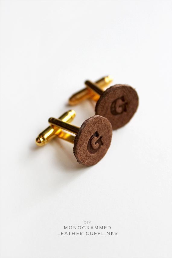 diy leather cufflinks  | almost makes perfect