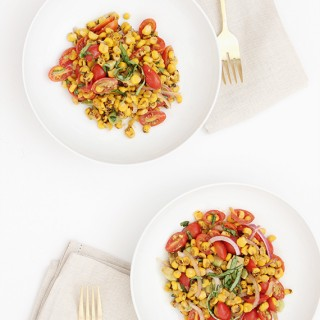 corn + tomato summer salad