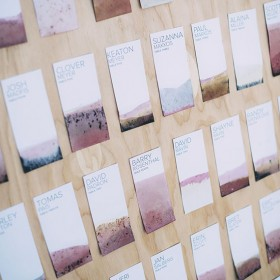 diy escort cards or seating chart or whatever you call it.