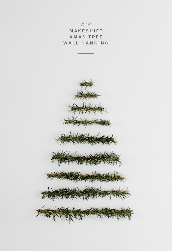 6 schöne Weihnachtsbaum Alternativen: Weihnachtsbaum aus Tannenzweigen