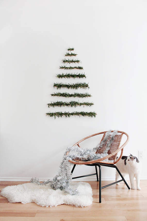 diy makeshift xmas tree wall hanging almost makes perfect