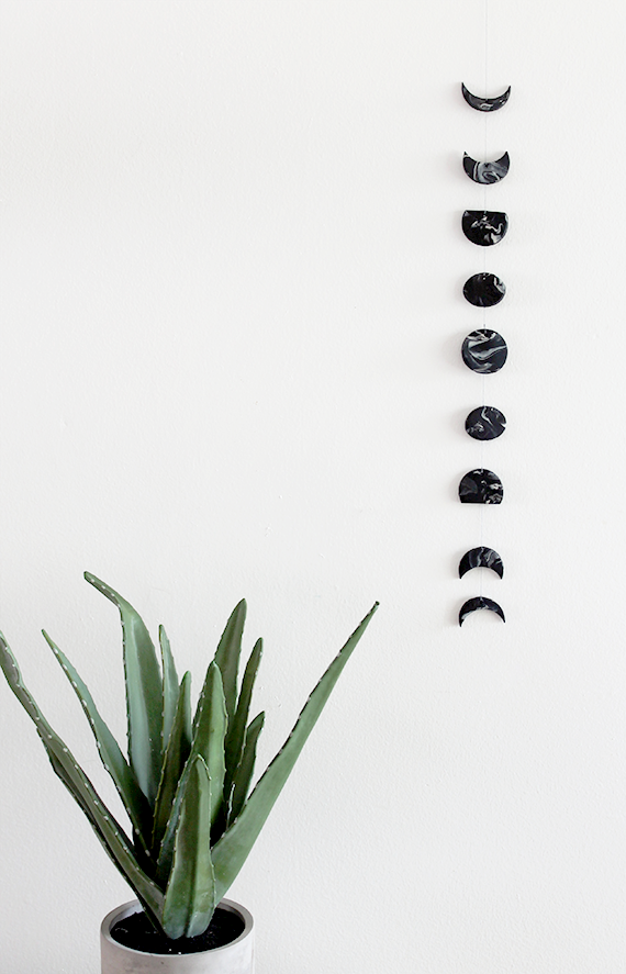 Diy Moon Calendar : Diy marble moon phase wall hanging almost makes perfect