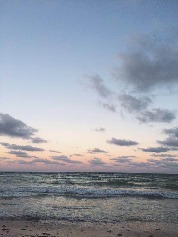 tulum sunset