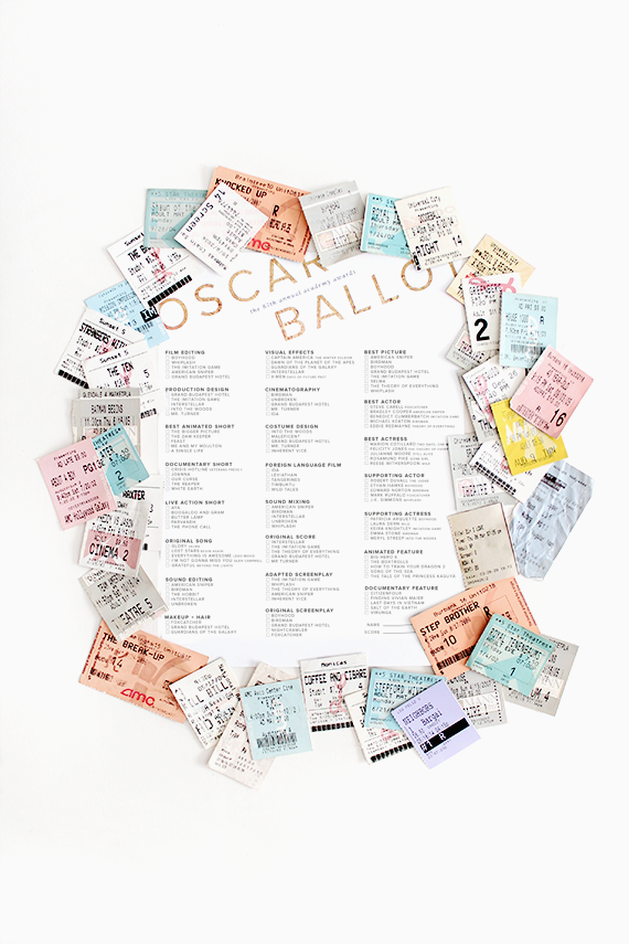 image about Printable Oscar Ballots called printable oscar ballots - approximately generates excellent
