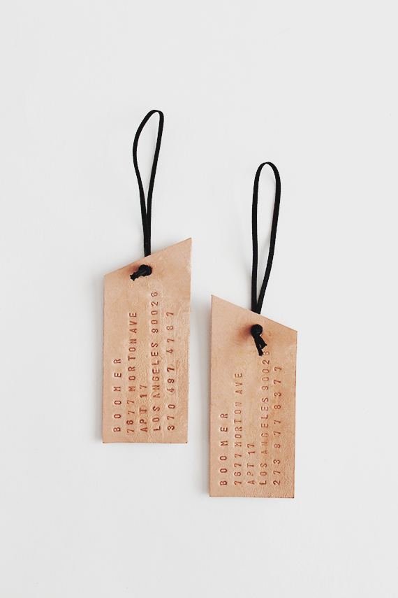 DIY Leather Luggage Tags - Almost Makes Perfect