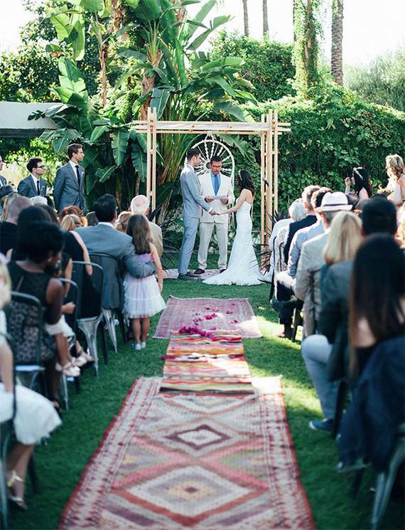 stylish handmade desert wedding