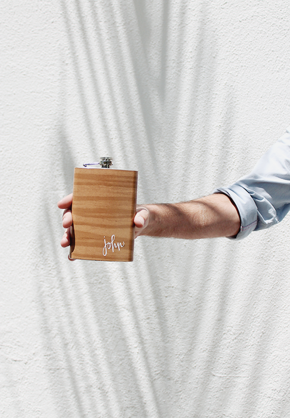 diy wood grain flask  | almost makes perfect