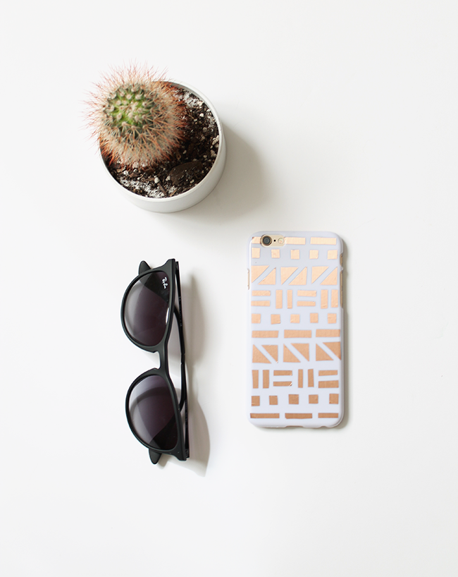 diy copper patterned phone case | almost makes perfect