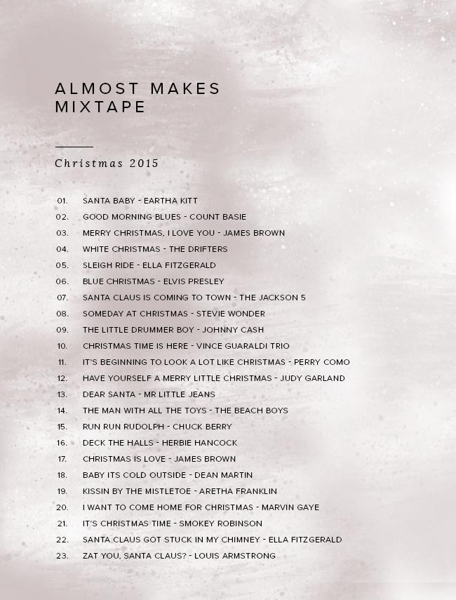 almost makes mixtape | xmas 2015