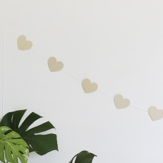 DIY wood heart garland | almost makes perfect