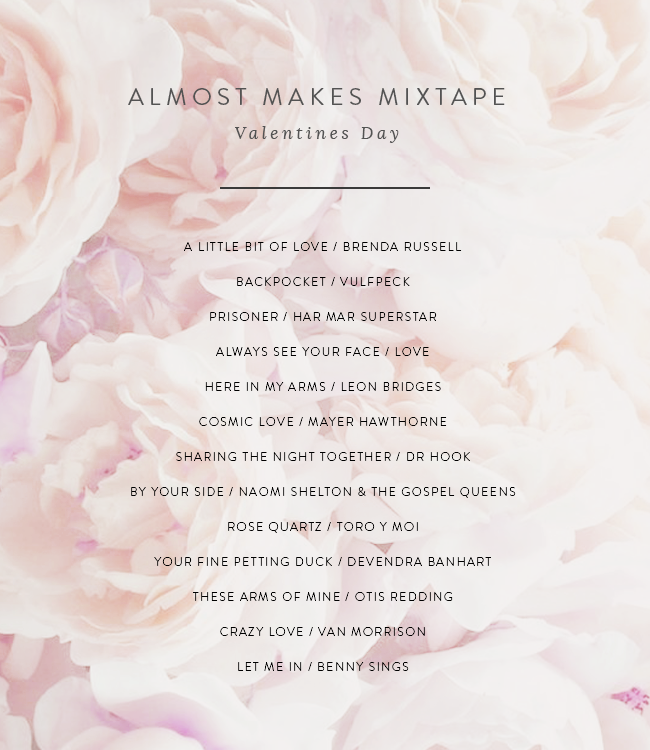 almost makes mixtape | valentines 2016