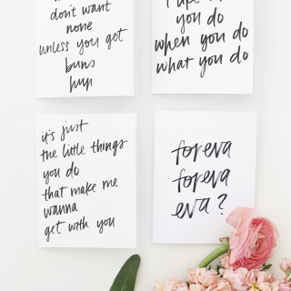 printable rap lyric valentine cards | almost makes perfect