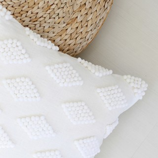 DIY modern pom pom pillow