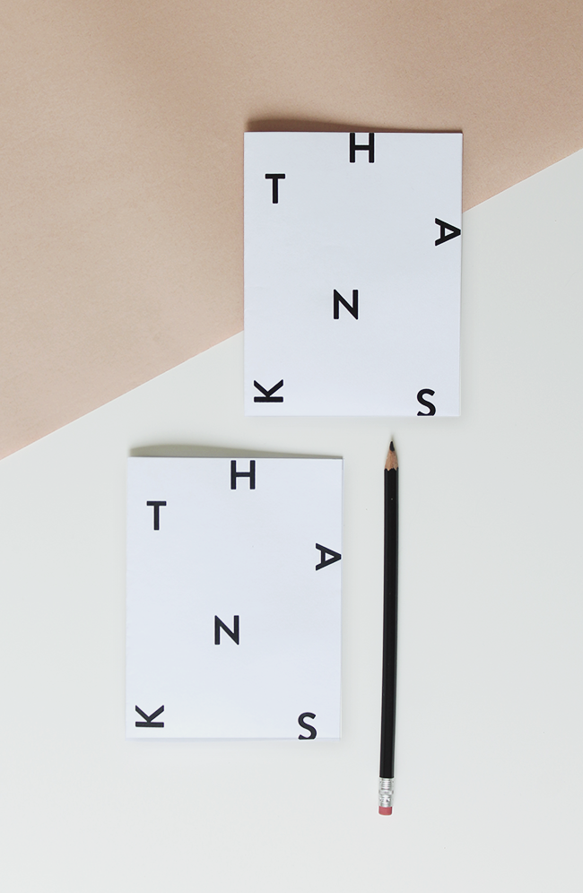 printable minimal thank you card | almost makes perfect
