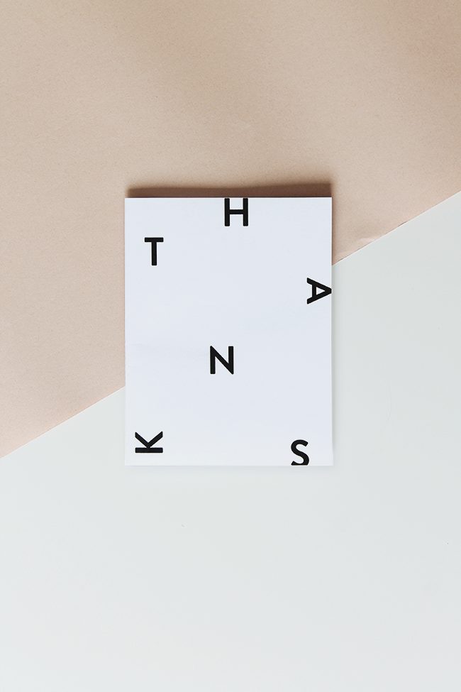 printable thank you card | almost makes perfect