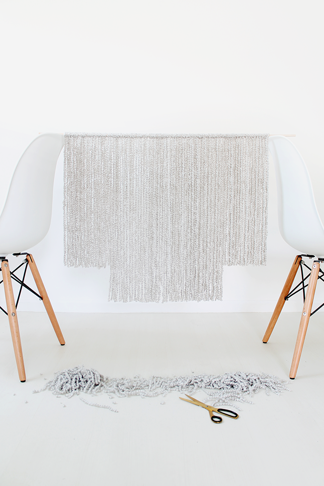 how to make a modern wall hanging
