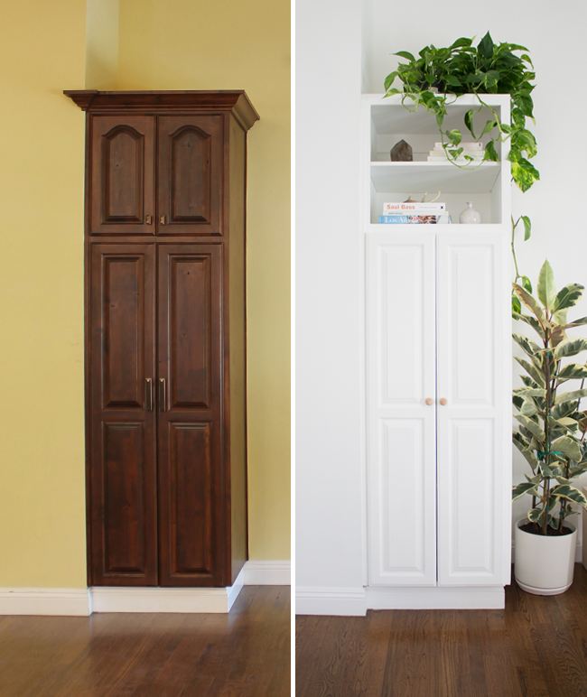 our built in cabinet before and after | almost makes perfect