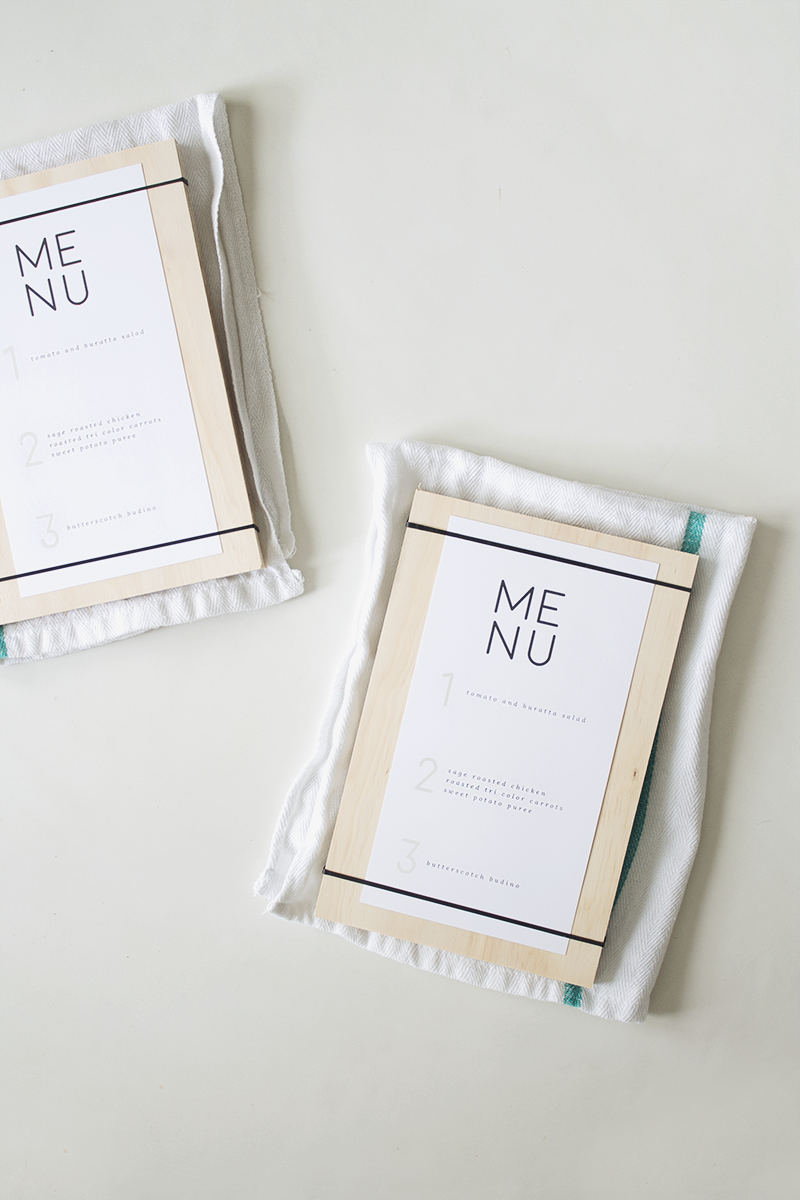 DIY wood + rubber band menus | @mollymadfis