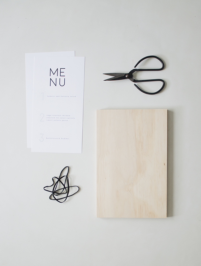 how to make wood + rubber band menus | almost makes perfect