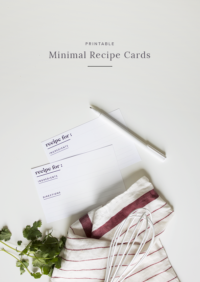 printable recipe cards @mollymadfis