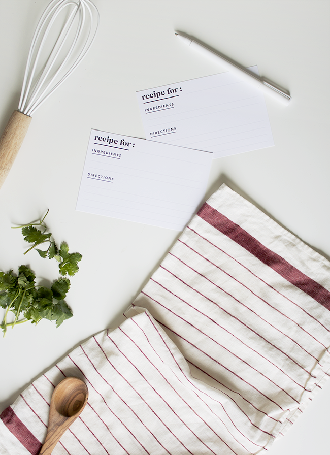 printable recipe cards | almost makes perfect