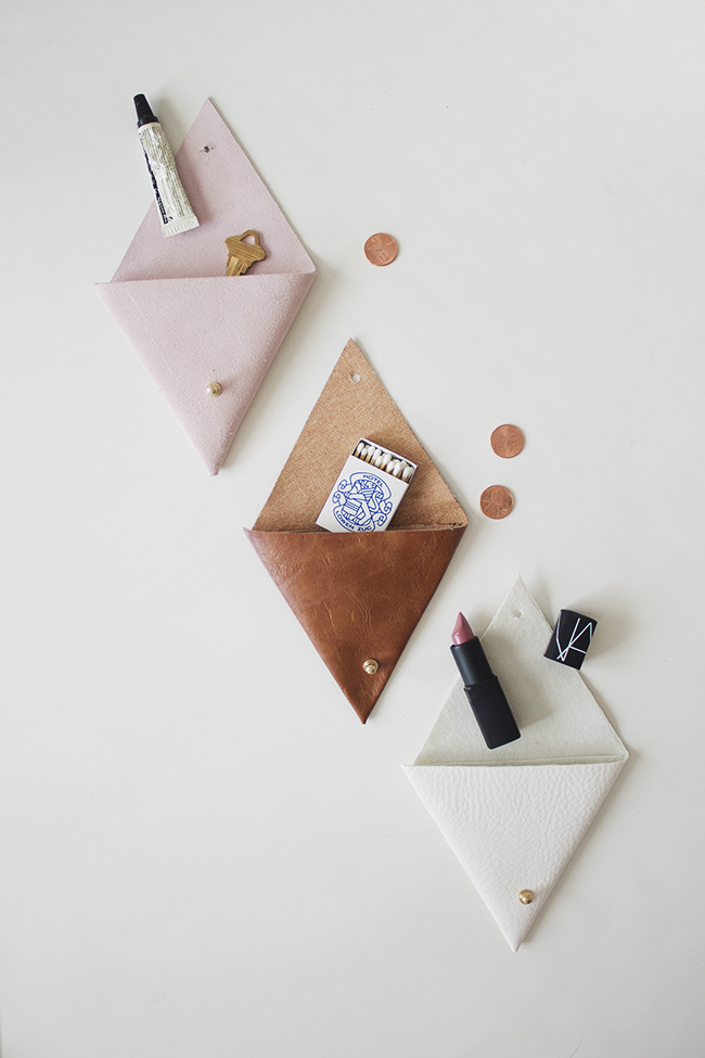 DIY leather pouches   almost makes perfect copy