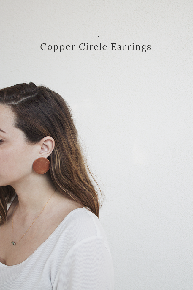 diy copper circle earrings | almost makes perfect