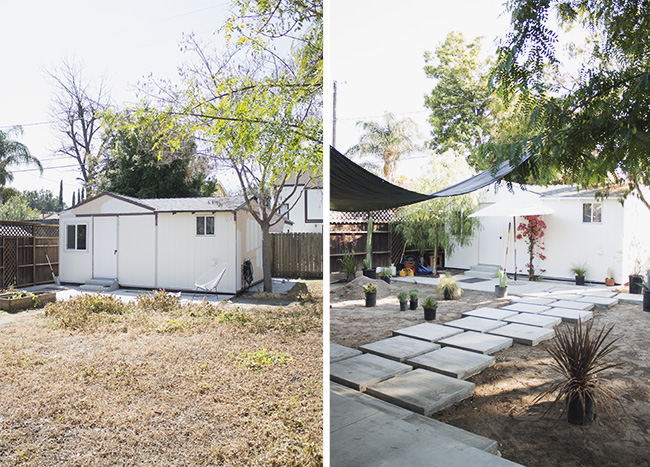 our backyard before and during | almost makes perfect