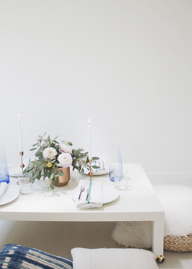 an indoor picnic dinner party   almost makes perfect