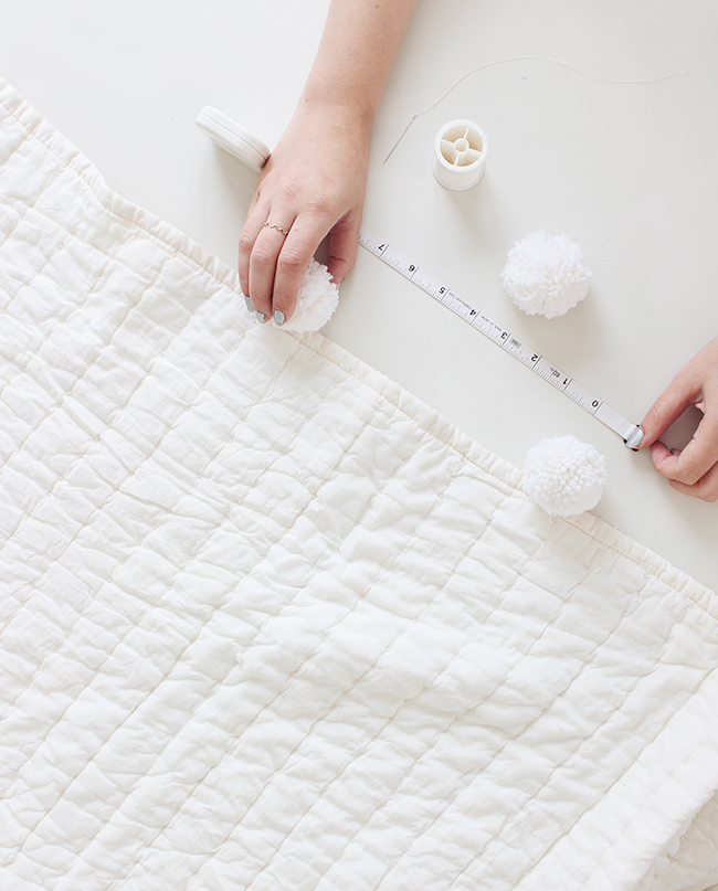 DIY pom pom blanket | almost makes perfect