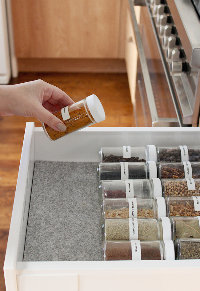 organized spice drawer   almost makes perfect