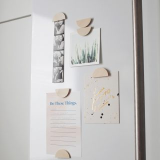 DIY half moon magnets